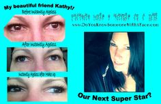 My friend Kathy! WOW Instantly Ageless is a breakthrough product and WOW, I am loving it and making great money as I change lives two minutes at a time! Watch my 2 minute video: www.doyouknowsomeonewithaface.com