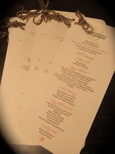 Catholic wedding program - DIY