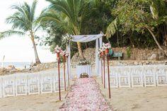 Wedding Blog, Destination Wedding, Dream Wedding, Tiki Torches, Chuppah, Tropical Flowers, Bamboo, Adventure, Table Decorations