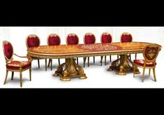 Luxury handmade furniture. Imported from Europe many sizes and matching items available. Luxury handmade furniture.  Empire Style dining tables.  Please call Bernadette Livingston Furniture for more information: 877-732-2586