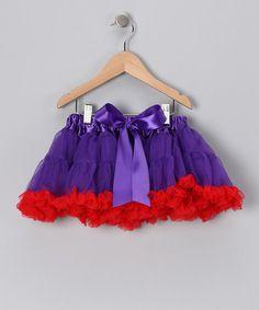 Loving this Purple & Red Pettiskirt - Infant, Toddler & Girls on #zulily! #zulilyfinds