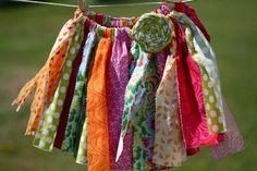 fabric scrap garland...