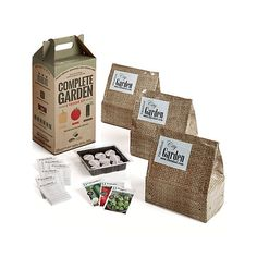 Get a garden growing with this complete kit of sprout-to-harvest supplies for producing tomatoes, pepper and cucumbers on your porch, balcony or patio. Seeds start out in the sprouting tray, then grow to maturity in accompanying grow bags. Everything's here, including the fertilizer. Just add water (and a little TLC). Complete instructions are easy to follow, green thumb or not.