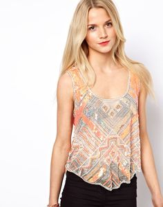 A Wear Sequin Tank
