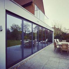 Doors, doors & more doors.... Installation: Bi-Fold Door Factory Ltd  #schuco #bifolddoors #bifolddoorideas #bifolddoorfactory #bifoldingdoors #slidingdoors