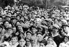 New York Yankees outfielder Babe Ruth, the Great Bambino, spends time with some fans.    1926