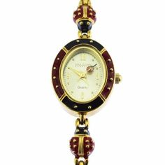 Joan Rivers Red Enamel Ladybug Watch