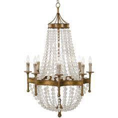 Redefine contemporary style with the Scalloped Frosted Crystal Bead Chandelier from Regina Andrew Design. With an artist's eye, their assortment skillfully mixes modern with rustic, elegant with casual, romantic with relaxed. They have an eclectic vision that resonates with natural style.