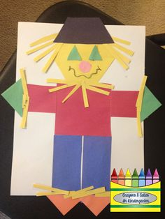 Crayons & Cuties In Kindergarten: There is Nothing SCARY About These Scarecrows! Count and record shapes also.