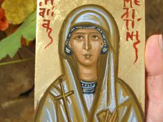 Saint Melitini, Melina like honey in greek, a name very beloved in Greece, honouring the memory of a glorious martyr that is celebrated on September 16th- One of the series of Greek name saints that we ve repeatedlyadded to our portfolio