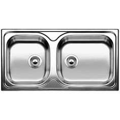 Blanco Premium Stainless Steel Sink Model: Tipo XL 9 S Dimensions: mm (external) Will prefer the smaller sink to be a bit smaller and the draining / larger sink to be bigger