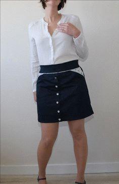 Jupe 1001 perles de la créatrice Ivanne S. Une merveille de patron. Je vous dis tout ce que j'en pense sur le blog. Blog LaisseLuciefer.