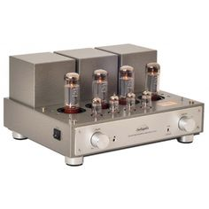 The Line Magnetic integrated amplifier is a push pull amplifier with tubes in Class AB amplification and delivers in triode mode and in ultra-linear mode. It has 4 balanced line inputs and output groups. Guitar Amp, Audio Equipment, Audiophile, Acoustic, Line, Magnets, Channel, Earth, Sexy