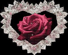 Rosa con corazon