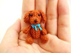 Mini Fawn Maltese Amigurumi - Tiny Crochet Miniature Dog Stuffed Animals - Made To Order Crochet Animals, Felt Animals, Crochet Toys, Red Poodles, Miniature Dogs, Mini Dogs, Bead Sewing, Cairn Terrier, Scottish Terrier