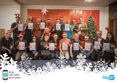 Scan this greeting card with the Layar app to watch and hear (!!) the Layar Team wishing you Happy Holidays!