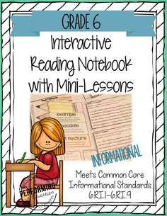 Interactive Notebooks for Reading with Mini-lessons: Common Core Grade 6 - informational #interactivenotebooks #performingineducation