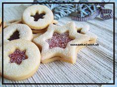 Linecké koláčiky Doughnut, Waffles, Food And Drink, Cookies, Breakfast, Cake, Christmas Recipes, Basket, Crack Crackers