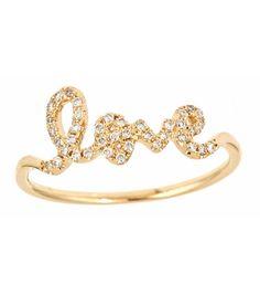 'love' fashion ring