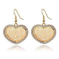 Amazing Big Heart Shaped Gold&Silver Color Earrings //Price: $10.75 & FREE Shipping //     #jewelry #jewels #jewel #socialenvy #PleaseForgiveMe #fashion #gems #gem #gemstone #bling #stones #stone #trendy #accessories #love #crystals #beautiful #ootd #style #fashionista #accessory #instajewelry #stylish #cute #jewelrygram #fashionjewelry