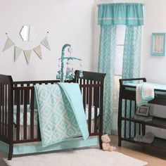 The Peanut Shell Diamond Zeal 7 Piece Crib Bedding Set