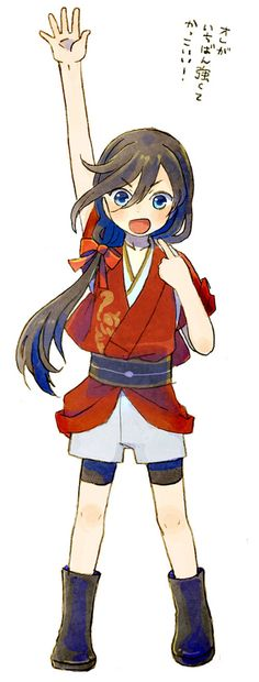 Aah so cute!! Little Izuminokami Kanesada
