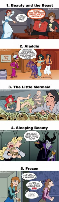 Things they didn't show in Disney movies.