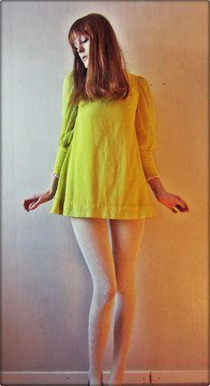 #60sminidress Cute 1960s trapeze dress.