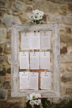 Wedding Seating Chart Idea
