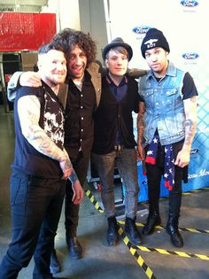 I got to meet Fall Out Boy after Idol last Thursday! What great guys. They're excited to be back with their new music. http://www.americanidol.com/videos/season_12/season_12_after_the_show/catching-up-with-fall-out-boy