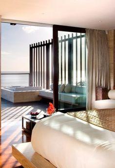 Bedroom with a view, The Anantara, Seminyak, Bali, INDONESIA