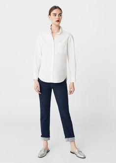 Хлопковая рубашка | MANGO МАНГО