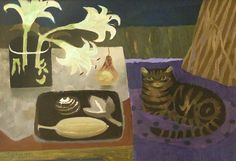 Mary Fedden - образ кошки в искусстве