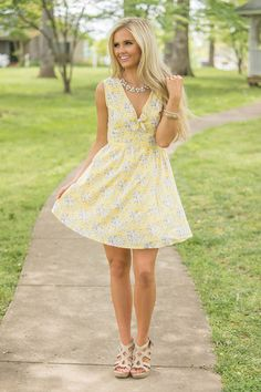 Fill My Heart With Joy Floral Dress - The Pink Lily