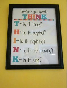 This is so needed in every home to teach kids what should and shouldn't  be said. And to remind parents!