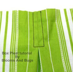 Sewing technique tutorial - Box Pleats