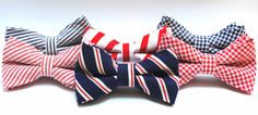 Red, white & blue bow ties for infant, toddler, boy -- for weddings, family portraits, photographs, photography props, infant portraits, newborn portraits, ring bearers, church outfits #stellaEM #4thofJuly