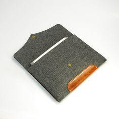 "Made to order Felt Laptop case 11"" Macbook Pro sleeve Leather macbook Case macbook Retina-Grey E1137-11."