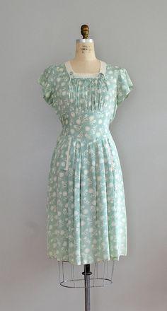 vintage 1930s dress | Heart on a Sleeve dress