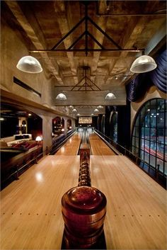 Bowling lanes in The Spare Room at the Hollywood Roosevelt Hotel