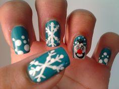 MY OLAF NAILS!!!!!!!