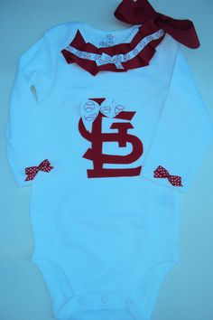 Baby Girl Toddler Girl St Louis Cardinals Baseball by DaintyBoTeek, $24.00