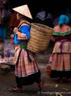 32_Flower Hmong Woman, Bac Ha Market, Vietnam