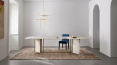 Meridiani launches Plinto collection of sculptural dining tables