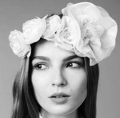 Tatianna Circlet by Jennifer Behr :: headwrap :: silk flowers :: handmade :: headband :: hair :: beauty