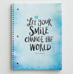 """Sadie Robertson Spiral Notebook - """"Smile"""""""