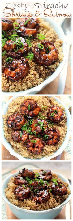 Zesty Sriracha Shrimp & Quinoa! Don't forget the GOYA® Quinoa and variety of GOYA® seasonings!