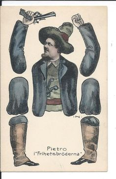 Cut out postcard Pietro Offenbach Les Brigands Stender number 348 Sweden