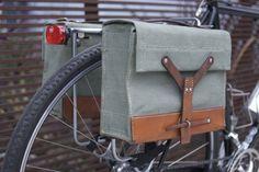 Love these Swiss Army Bike Bags by shmattson $120