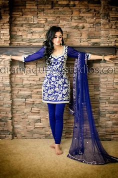 Cobalt blue - for more follow my Indian Fashion Boards :)